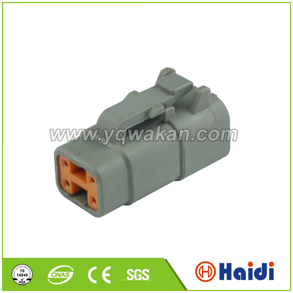 4Pin waterproof kit electrical terminal block plug sealed female male electricalwire harness automotive connectors