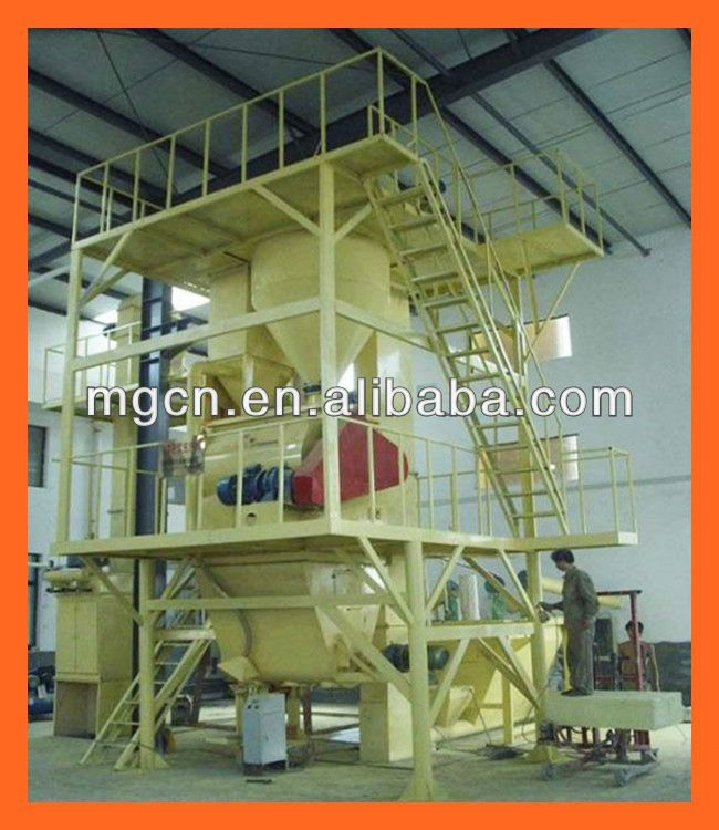China 8-30T per hour automatic cement and plaster based mortar machine new product export to Brazil