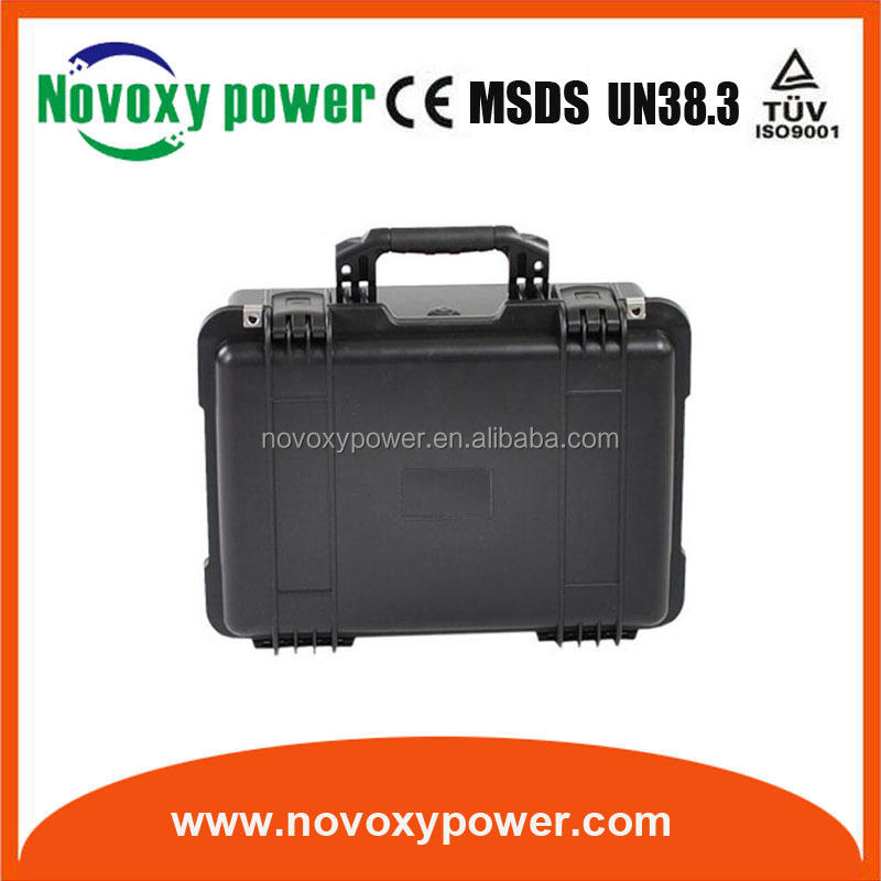 battery 12v 50ah deep cycle solar batteries with bms protection portable ABS battery case