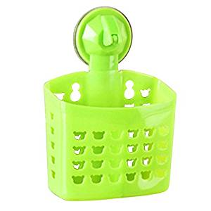 Eranello(TM) Portable Home Kitchen Hanging Drain Bag Basket Bath Storage Tools Sink Holder [ green ]
