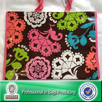Lead Free PP Woven Laminated Flower Handbag
