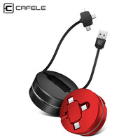 Cafele Customized Logo 3 in 1 Multi Usb Retractable Charging Cable 2.1a Fast Charing Data Transfer Usb Cable