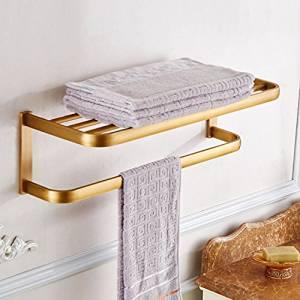 Hardware de baño accesorios de baño, estantes de baño de estilo europeo, cobre antiguo toallero