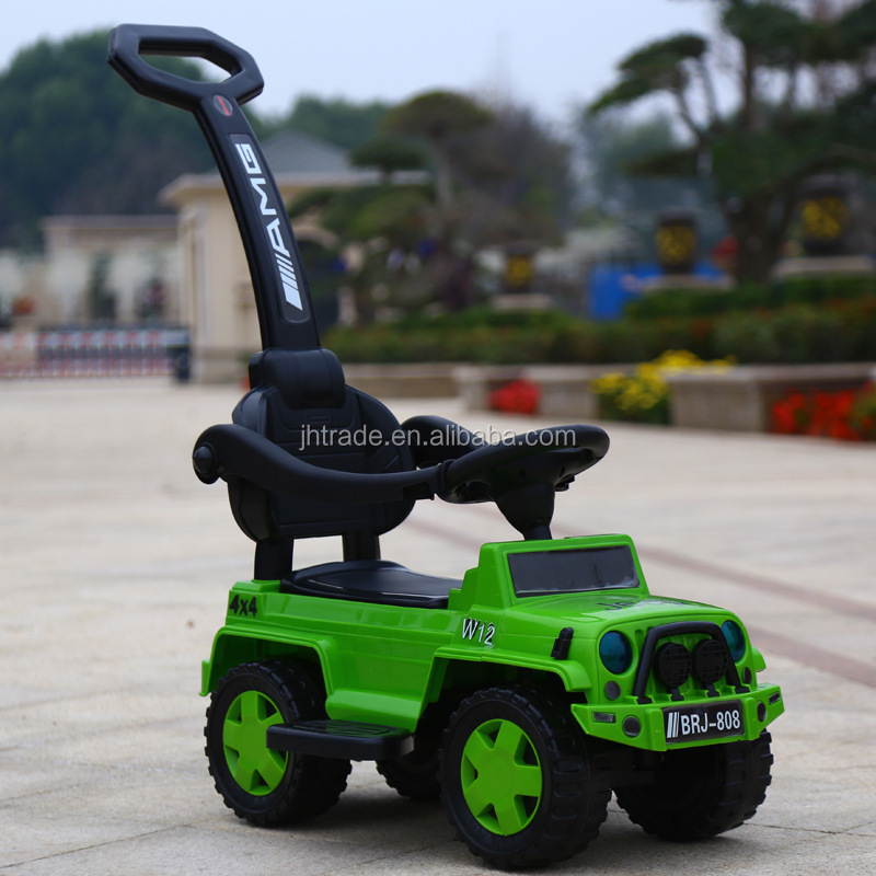 Ride on car with push bar for kids for children