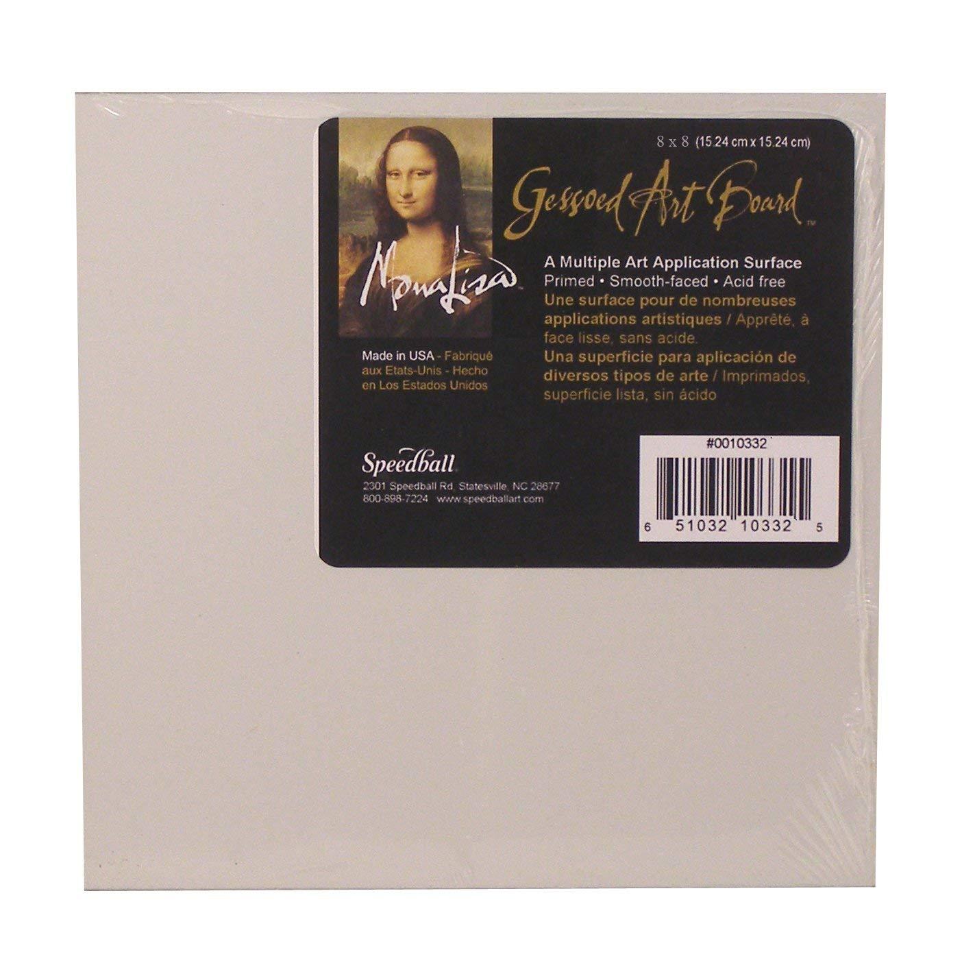 8 x 10 Mona Lisa Gessoed Masonite