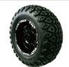12' Golf Cart Tires & Rims combo AX-1 aluminum wheel with 23*10.5-12 rugged tire wholesale
