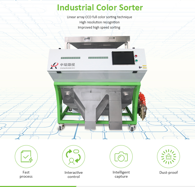 Industry Color Sorter Plastic Quartz Sand Sorting Machine Mineral Selector