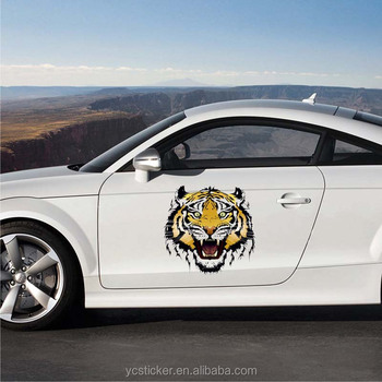 Cool Tiger Graphics Car Vinyl Wrap Wholesale Reusable Decal Car Body