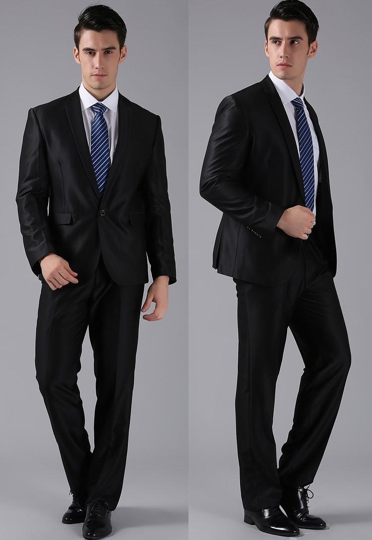 (Kurtki + Spodnie) 2016 Nowych Mężczyzna Garnitury Slim Fit Niestandardowe Garnitury Smokingi Marka Moda Bridegroon Biznes Suknia Ślubna Blazer H0285 18