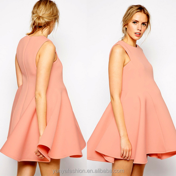 Pink Color Sleeveless Pleated Pregnancy Short Maternity Prom Dresses