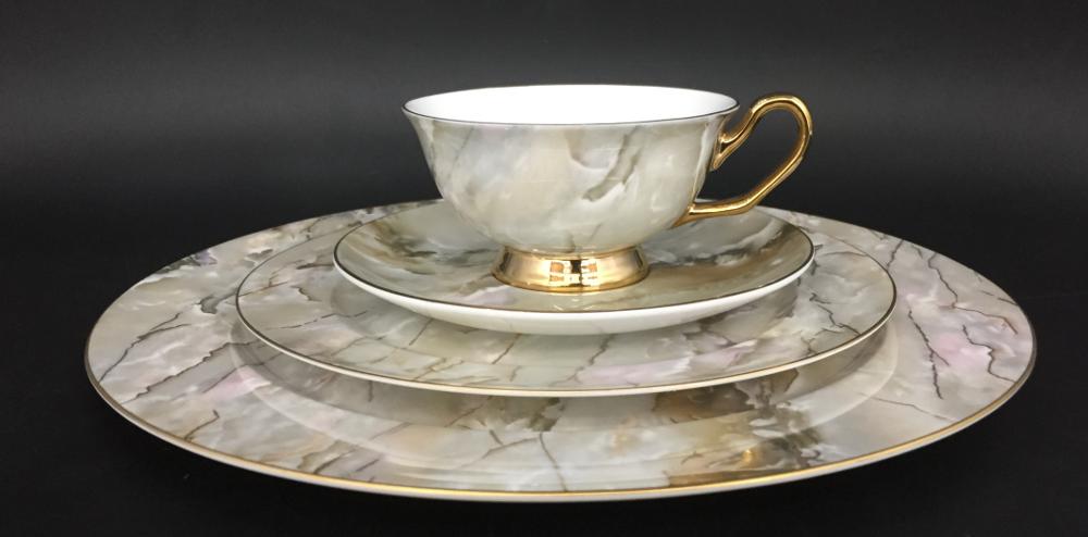 ceramic dinner plates marble