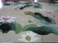 flower pattern design washable hand wool rugs