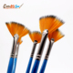 5 Pcs/Set Long Handle Nylon Fan Shape Oil Paint Brush Painting Watercolor Brush