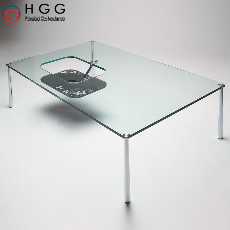 12mm thick clear tempered glass with safety round edge table top price