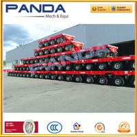 Panda Goldhofer hydraulic trailer for heavy duty equipment