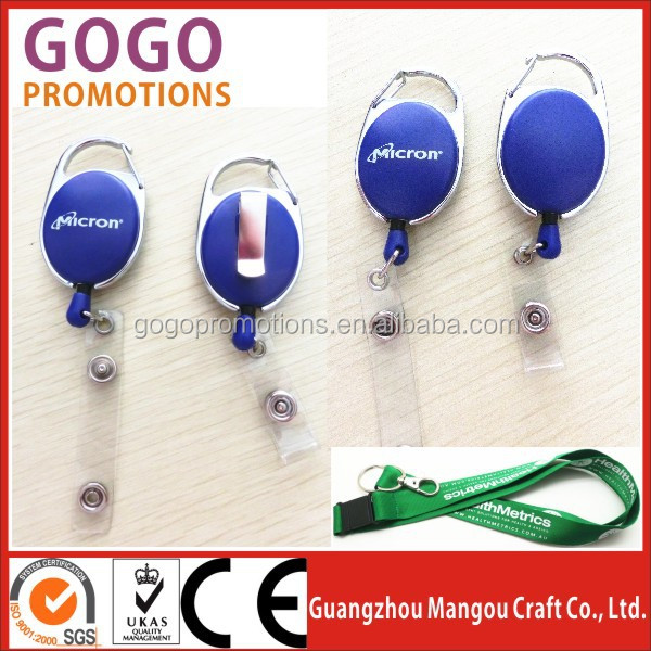 ID Badges Card Holder Office Retractable Reel Key Clip Holders, Retractable Badge Reels with Clip Ideal for Business Gifts