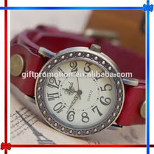 LN51 women vintage braid wrap quartz leather wrist watch
