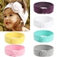 95% cotton and 5% spandex new design fashion lovely stretchy soft comfortable breathable baby kids head band with flower