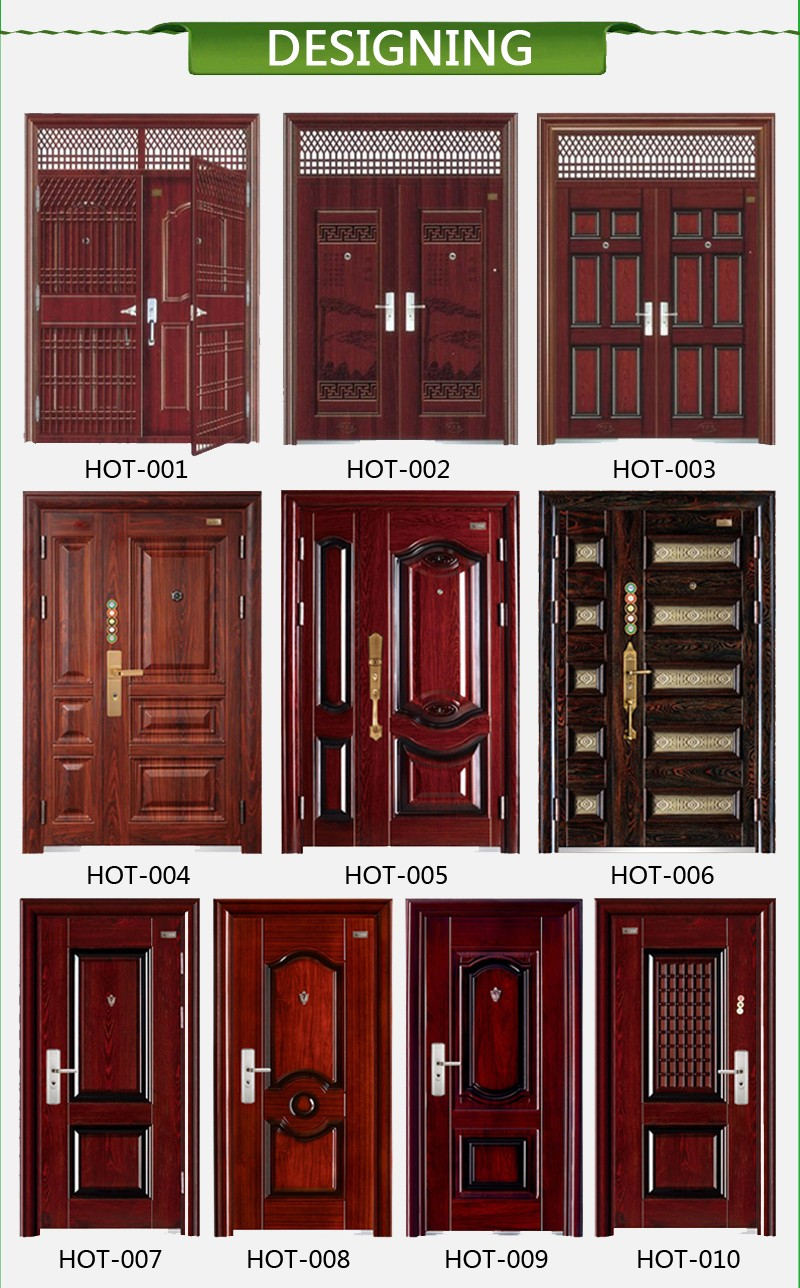 Indian Latest Main Gate Door Design Ghana Steel Door