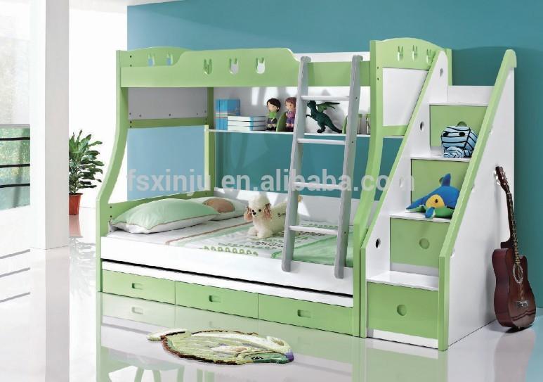 Cama litera para ni os estilo moderno escaleras para camas literas a07 conjunto de dormitorio - Escaleras para literas infantiles ...