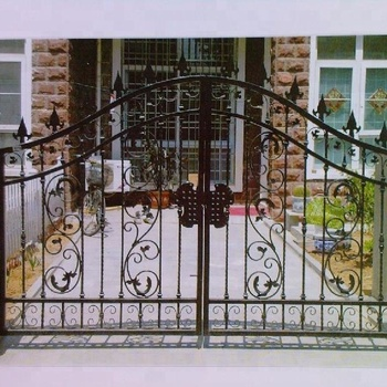 Angle Bar Fence And Gate Design View Steel Main Gate Design