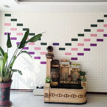 3d living room wall background brick pattern self adhesive wallpaper