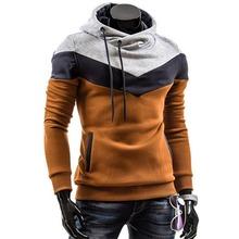 2015 6 Colors New Autumn Mens Casual Slim Fit Hooded Hoodies Sweatshirt Sportswear Male Patchwork Fleece Jacket  MF-9802
