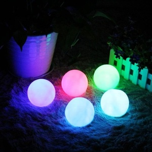 15cm round rechargeable floating waterproof led light ball plastic christmas plastic glow led ball