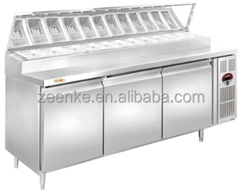 commercial pizza display pizza prep table restaurant equipment