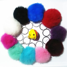 10 Color High Quality Fur Brand Bag Keychain Car Keyring Rabbit Fur Ball Keychain Fur Brand Bag Charms Keychain Fur Key rings