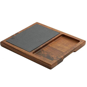 Wholesale Alibaba Sushi And Dishes Rectangular Plate Slate Stone Black Plates For Restaurant Hotel