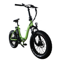 500w Power Electric Bike 20inch Mini Foldable Snow Bike Fat Tire E-bike