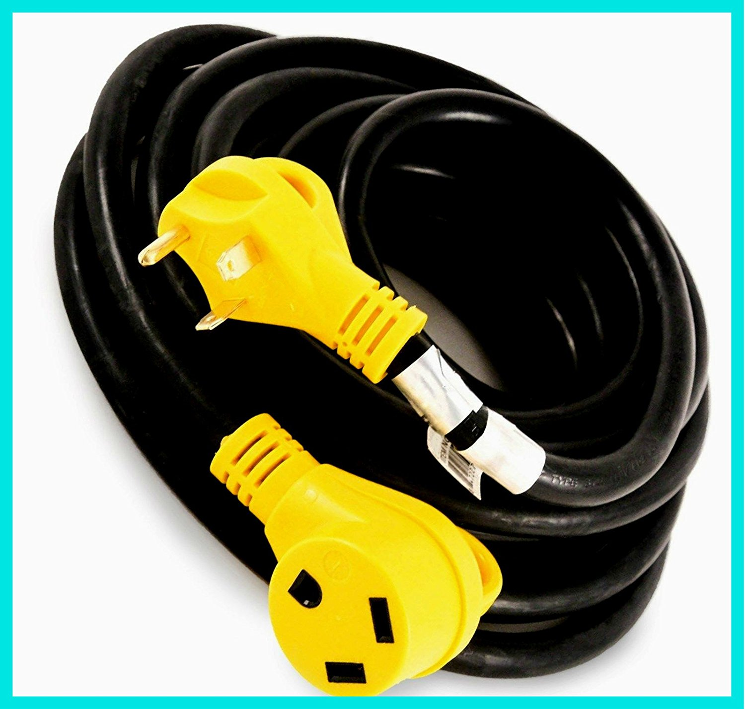 Buy Power Adapter Cable Extension Cord 100 Copper Wiring 30a A Trailer Camper 25 Ft 30 Amp