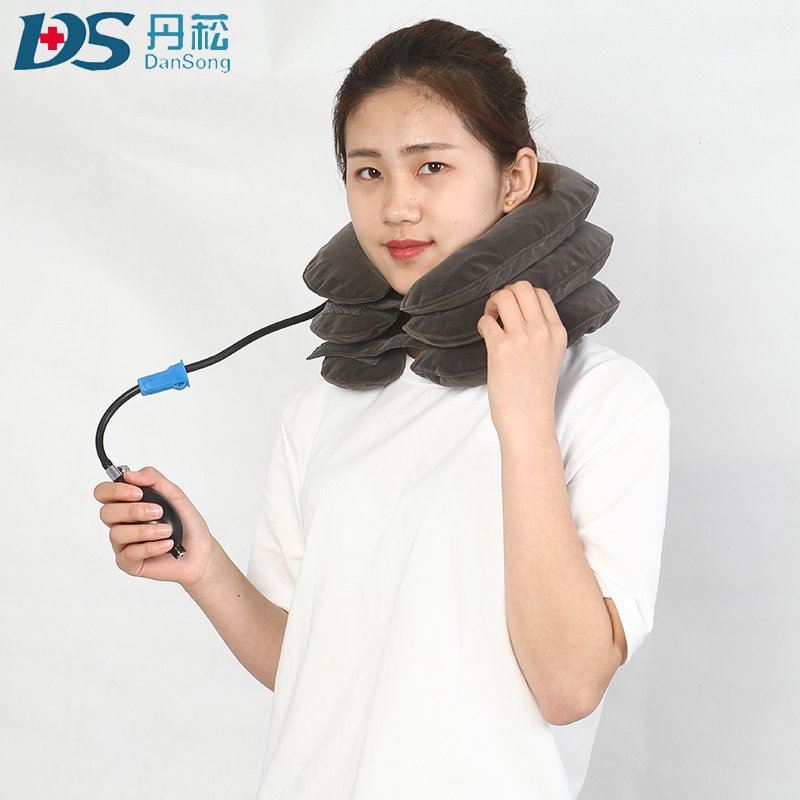 CE full flannel inflatable air neck traction/Soft Air - ความดันคอ Traction ปากมดลูก collar