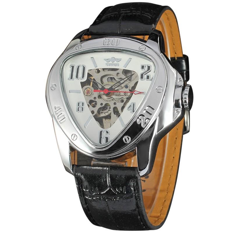 WINNER 035 China factory winner triangle wrist watch leather watch triangle wholesale japan miyota movement quartz watches