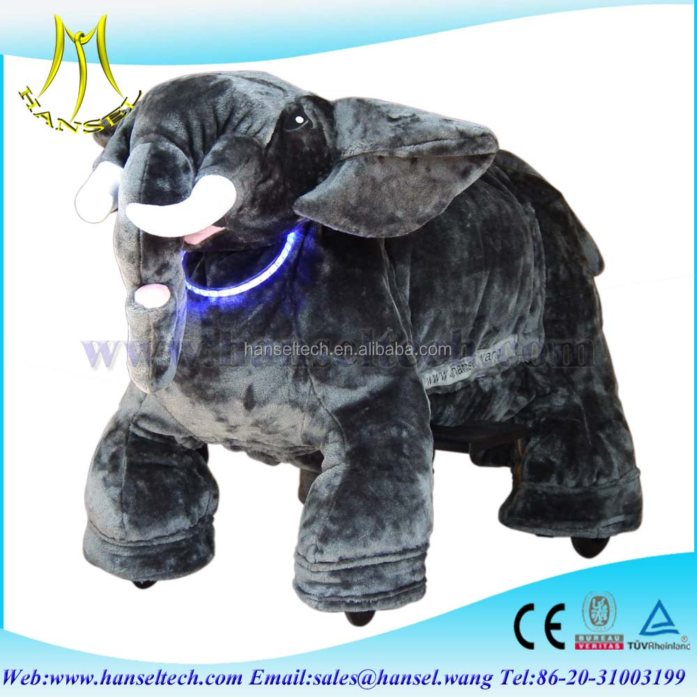 Hansel best seller in 2016 animated moving animal toy,hansel coin operated plush electrical animal toy car for sale