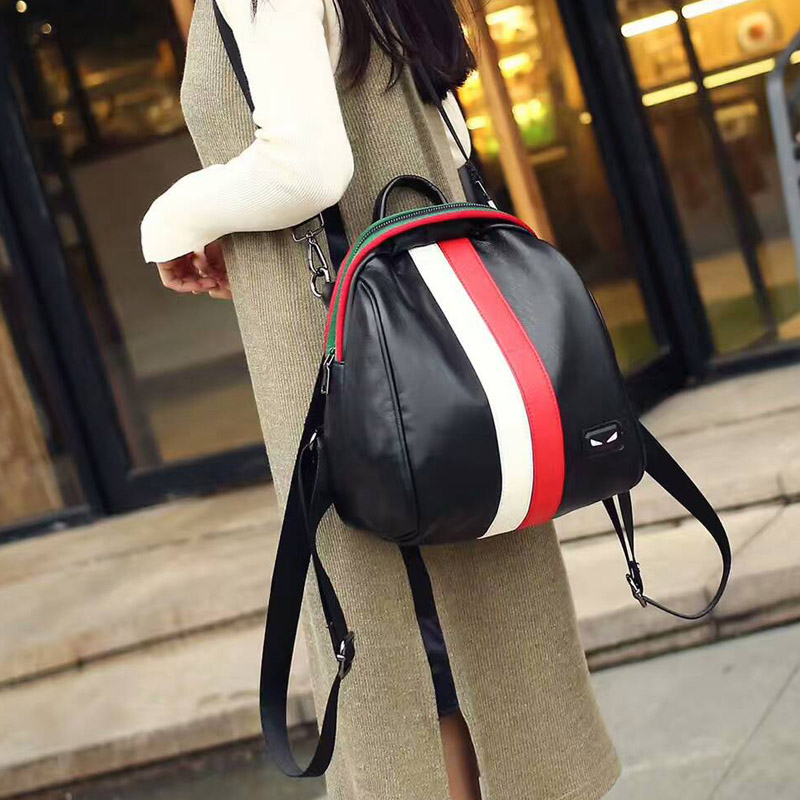 Girls small leisure backpack woman black elegant cute sling backpack for women