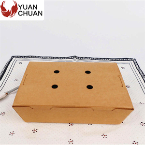 Breathable design rectangular packaging box for restaurant