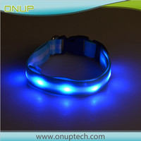 Factory OEM Innovation 2017 USB rechargeable dog collar led slide-on collar pet id tag with great price