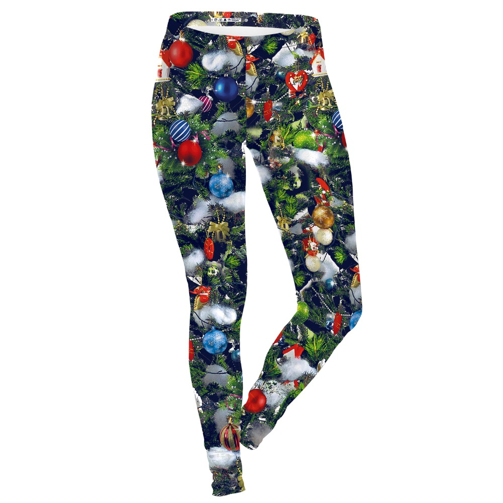 2017 Leggins print Christmas leggings high quality breathable package hip slim ladies pencil render leggings for women