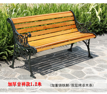 2012 New Model Simple Design Wood Bench,professional Manufacturer Export Cast  Iron Garden Bench(