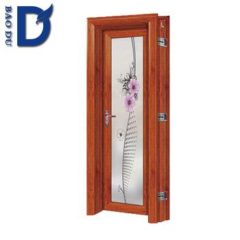 Aluminum Half Glass Door Design Screen Door Panel Sliding Door For Bathroom
