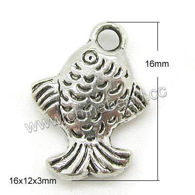 China factory fish shape charms zinc alloy metal charm beads