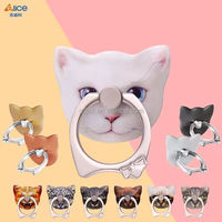 2017 ELICE new cute cat design metal car phone ring ,Manufacturer directly sales