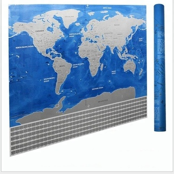Funny portable new design plain wall sticker custom print globe funny portable new design plain wall sticker custom print globe world scratch off travel map gumiabroncs Choice Image