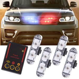 4 in 1 Auto LED Car Emergency Strobe Lights DRL Wireless Remote Control Kit Car Accessories 12V Flashing Warning Police Flasher