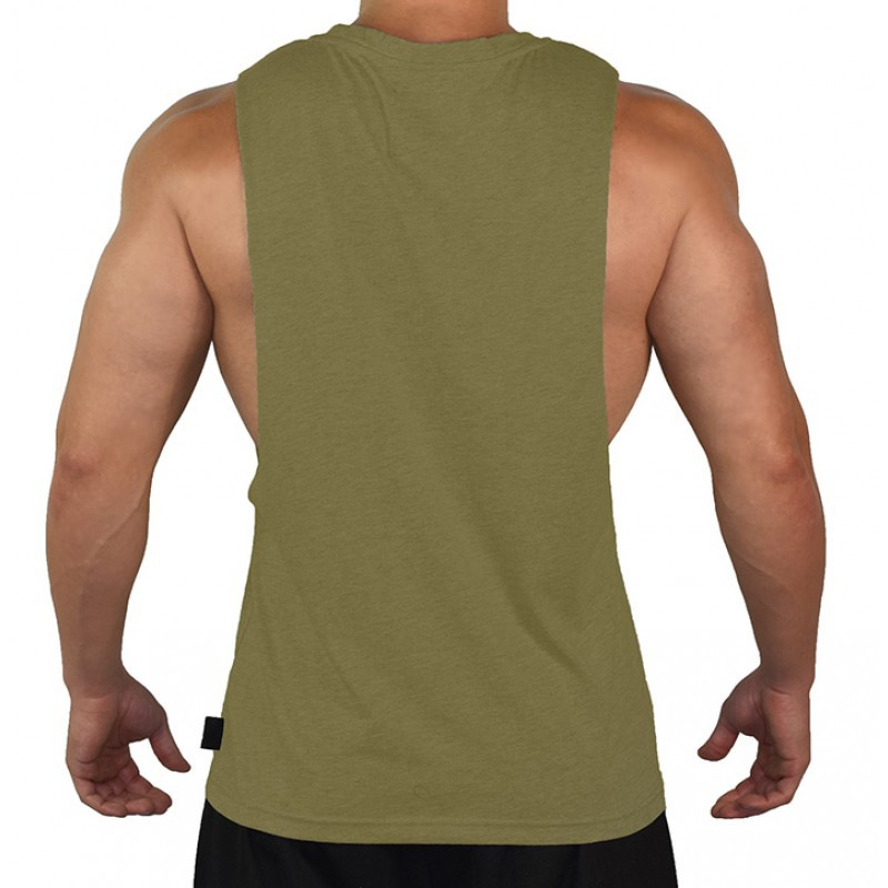 Printed custom mens gym fitness bodybuilding stringer tank top