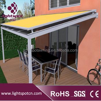 Diseño Moderno Eléctrica Toldo Con Control Remoto Buy Conservatorio De Toldo Terraza Al Aire Libre Toldo Diseño Terraza Eléctrica Toldo Retráctil