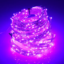 New design projector outdoor silver wire purple rain drop Christmas Led starry fairy light for tree decoration