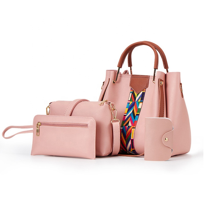 2019 New Arrival Design Fashion Waterproof Pink PU Leather Lady Shoulder Handbag Tote For Women